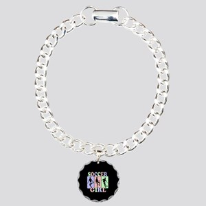 Cute Girls Soccer design Charm Bracelet, One Charm