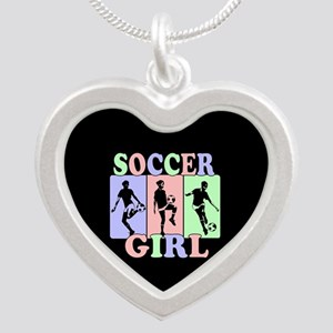 Cute Girls Soccer design Necklaces