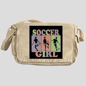 Cute Girls Soccer design Messenger Bag