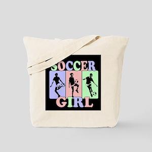 Cute Girls Soccer design Tote Bag