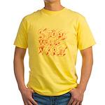 Stop World War III  Yellow T-Shirt