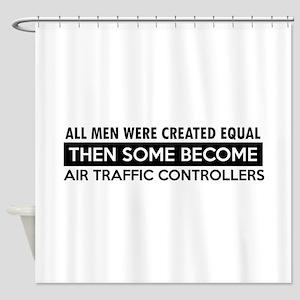 Air Traffic Controllers Designs Shower Curtain
