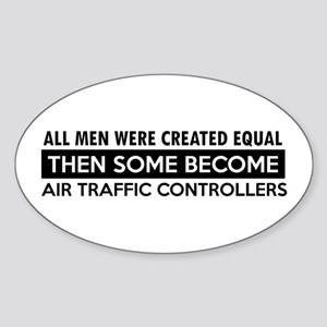 Air Traffic Controllers Designs Sticker (Oval)