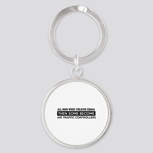 Air Traffic Controllers Designs Round Keychain