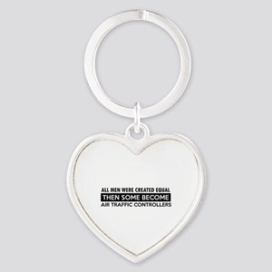 Air Traffic Controllers Designs Heart Keychain