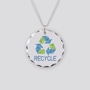 Recycle Symbol Necklace Circle Charm