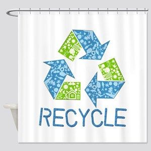 Recycle Symbol Shower Curtain