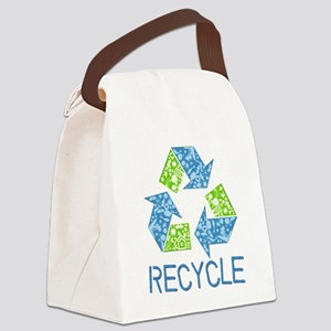 Recycle Symbol Canvas Lunch Bag