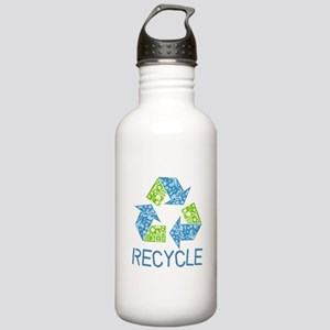 Recycle Symbol Stainless Water Bottle 1.0L