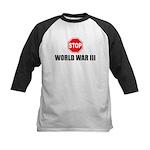 Stop World War III Kids Baseball Jersey