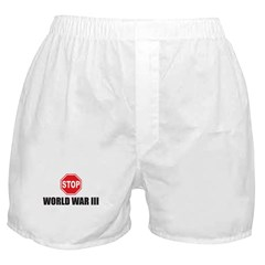 Stop World War III Boxer Shorts