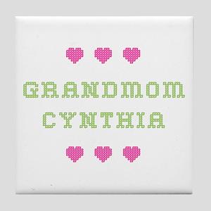Grandmom Cynthia Tile Coaster