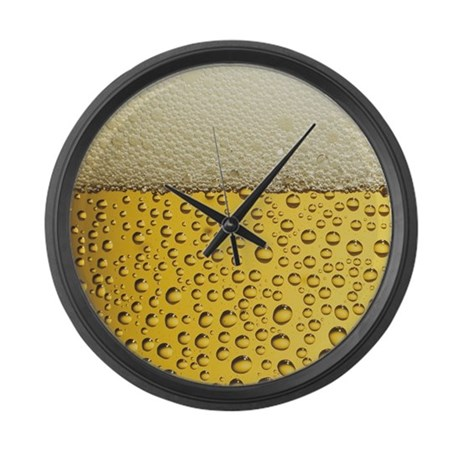 Beer Bubbles Large Wall Clock