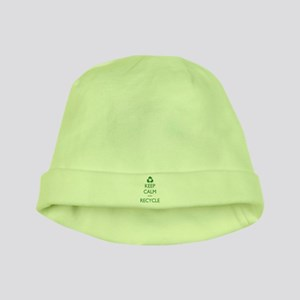 Keep Calm and Recycle baby hat