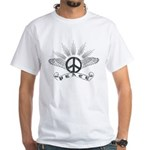 Peace with Wings White T-Shirt