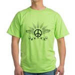 Peace with Wings Green T-Shirt