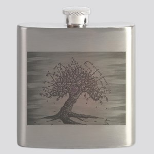 Namaste Love Tree Art Flask