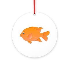 Garibaldi Damselfish fish Ornament (Round)