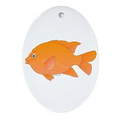 Garibaldi Damselfish fish Ornament (Oval)