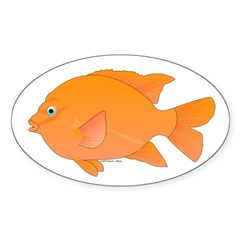 Garibaldi Damselfish fish Decal