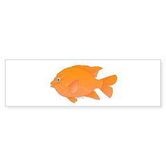 Garibaldi Damselfish fish Bumper Bumper Sticker