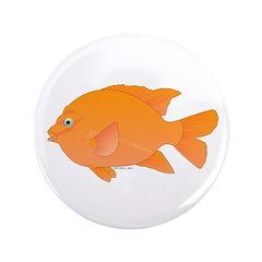 """Garibaldi Damselfish fish 3.5"""" Button"""