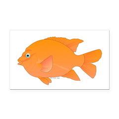 Garibaldi Damselfish fish Rectangle Car Magnet