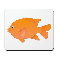 Garibaldi Damselfish fish Mousepad
