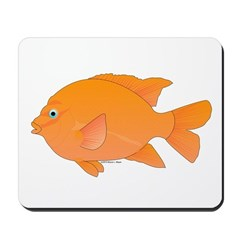 Garibaldi Damselfish fish Mousepad