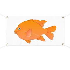 Garibaldi Damselfish fish Banner