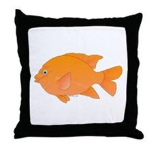 Garibaldi Damselfish fish Throw Pillow