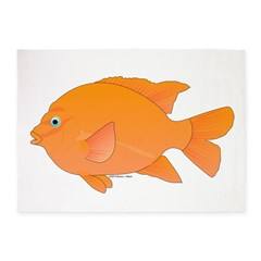 Garibaldi Damselfish fish 5'x7'Area Rug