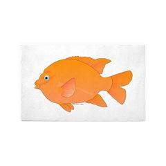 Garibaldi Damselfish fish 3'x5' Area Rug