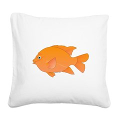 Garibaldi Damselfish fish Square Canvas Pillow