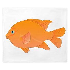 Garibaldi Damselfish fish King Duvet