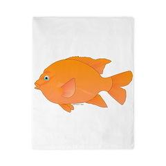 Garibaldi Damselfish fish Twin Duvet