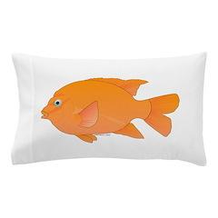 Garibaldi Damselfish fish Pillow Case