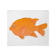 Garibaldi Damselfish fish Throw Blanket