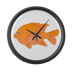 Garibaldi Damselfish fish Large Wall Clock