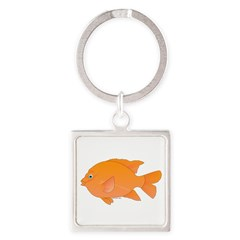 Garibaldi Damselfish fish Keychains