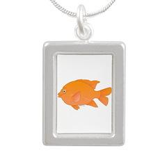 Garibaldi Damselfish fish Necklaces