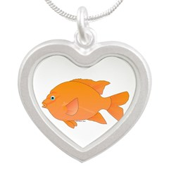 Garibaldi Damselfish fish Necklaces