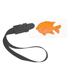 Garibaldi Damselfish fish Luggage Tag