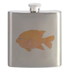 Garibaldi Damselfish fish Flask