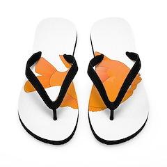 Garibaldi Damselfish fish Flip Flops