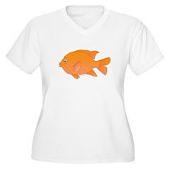 Garibaldi Damselfish fish Plus Size T-Shirt