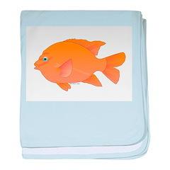 Garibaldi Damselfish fish baby blanket