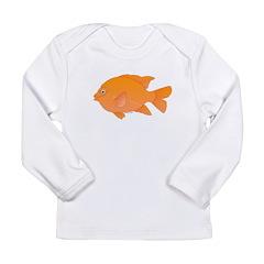 Garibaldi Damselfish fish Long Sleeve T-Shirt