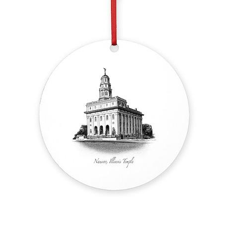 Nauvoo, Illinois Temple Ornament (Round)