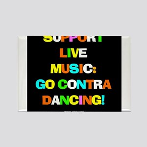 Contra Dance Rectangle Magnet
